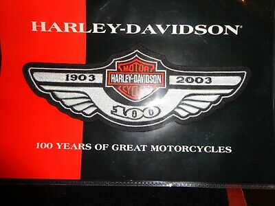 HARLEY DAVIDSON 100TH ANNIVERSARY MEDIUM LOGO PATCH Sealed In Pkg