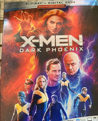 X-Men Dark Phoenix(Blu-Ray)W/Slipcover New