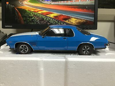 1:18 scale model car Holden HQ GTS Monaro Azure Blue with White Stripes #18683