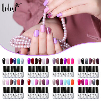 Belen 6 colore Kit Esmalte Semipermanente Brillante de Uñas en Gel UV LED