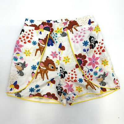 Disney Girls Shorts 5T Bambi Thumper Furrytale Friends Elastic Back Waistband