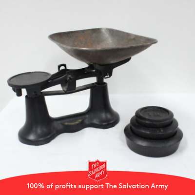 Metters Sydney Black Vintage Scales Comes with 3 weights 1,2 and 4 lb. #116