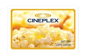 $20 cineplex odeon Gift Card Email Delivery