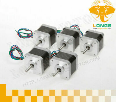 5PC Nema17 Stepper Motor 17HS8403NB Dual Shaft 4-Lead 2.5A 70oz-in DE Free Ship