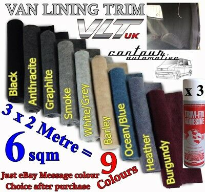 CAMPER VAN CAR CARPET LINING 4 way stretch VW T 6 5 1 TRIM TRANSIT RACE DAY 6sqm