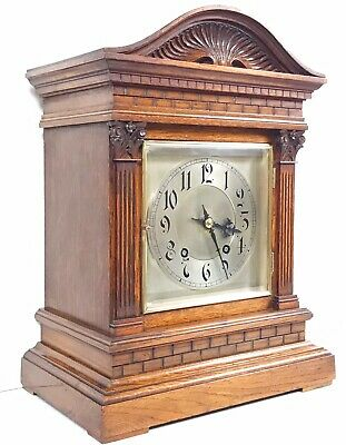 Winterhalder & Hoffmeier Oak Ting Tang Bracket Clock Superb