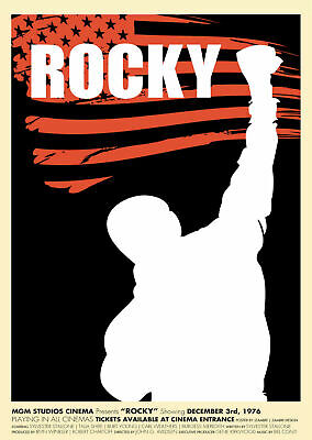Classic Rocky Balboa Poster Sylvester Stallone Art Silk Poster 12x18 24x36