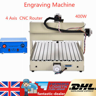 4Axis 3040 CNC Router Engraver Wood PCB 3D Drilling Carving Milling Machine 400W