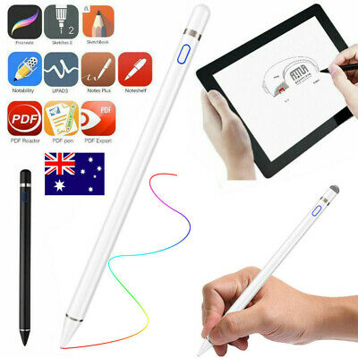 Stylus Pen Digital Pencil for Touch Screen Rechargeable with 1.5mm Fine Tip AU