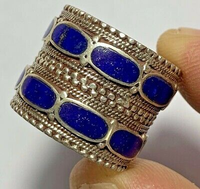 LATE MEDIEVAL ISLAMIC OTTOMANS RING lapis lazuli many rare stones