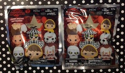 HORROR PROPERTIES Figural Bag Clip Series 4 Blind Bags Keychains Lot Of 2