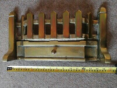 Small Narrow Antique Brass Fire Fender Front Surround 39cm wide