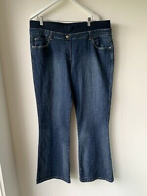 MATERNITY Stylish Pull On JEANS Size 18 NEW