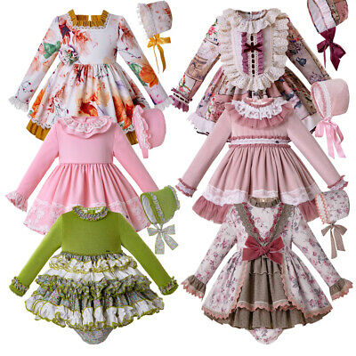 Newborn Baby Girl Spanish Party Dress Romany Princess Christmas Halloween Gown