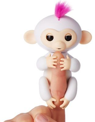 6 Functions Baby Monkey Finger Kids Toy Electronic Interactive Pet Lings White