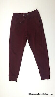 7 years TU burgundy colour boys joggers tracksuit trousers comfy