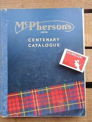 1960 MCPHERSONS  CENTENARY  tool  Industrial CATALOGUE