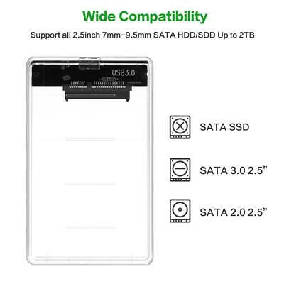Transparent 2.5 inch 5Gbps HDD SSD Case Box SATA to USB 3.0 Hard Drive Enclosure