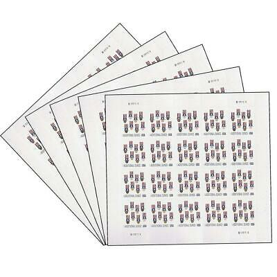 Additional Ounce (15 cents) USPS Postage Stamps -5 Sheets of 20 (100 Stamps)