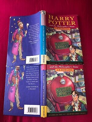 Harry Potter and the Philosophers Stone 1st Ed HB Dark Haired Wizard 10987654