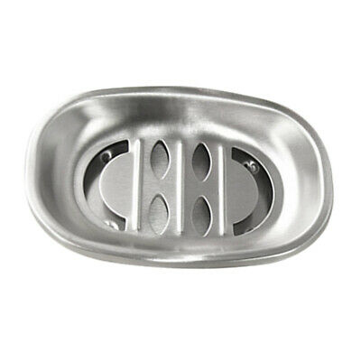 Stainless Steel Soap Dish Holder Tray Draining Box Countertop Bathroom Accs