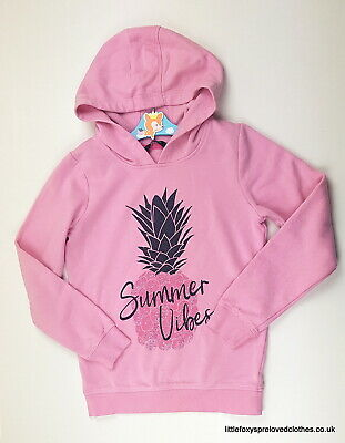 9-10 year George pink girls hoodie jumper warm stylish cool Summer vibes