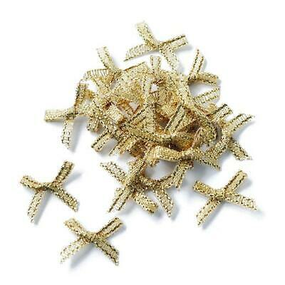 Buddly Crafts 20mm x 18mm Metallic Ribbon Bows 25pcs