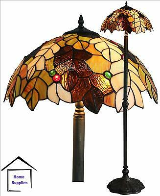 Harvest Tiffany Style Glass Handcrafted  Floor Lamp ( Ideal Christmas Present )