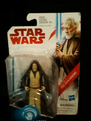 "OBI-WAN KENOBI JEDI MASTER Star Wars 3.75"" Action Figure 2017 THE LAST JEDI"