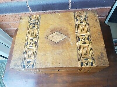 Antique Tunbridge Ware Box For Restoration