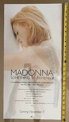 1995 MADONNA Something To Remember 12x24 PROMO Poster Song Titles RARE