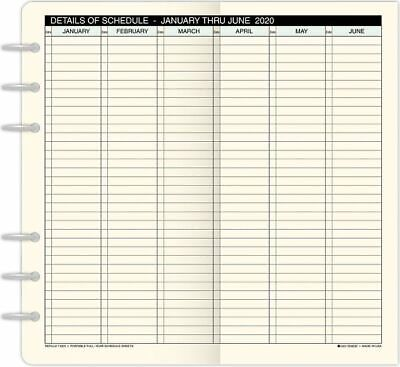 Full-Year Schedule Sheets Portable Size -