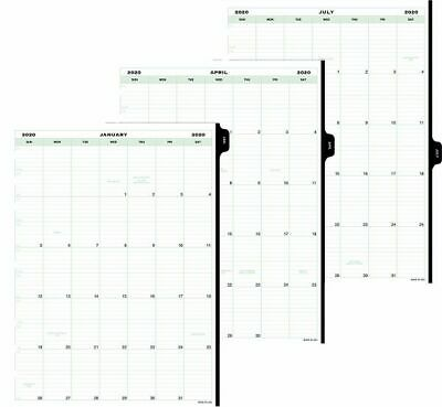 Monthly Tabbed Calendar Refill Folio Size -