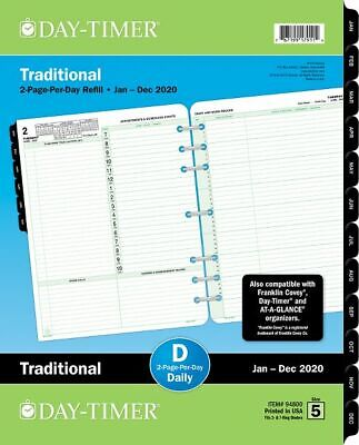 2-Page-Per-Day Reference Planner Refill Folio Size -
