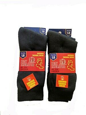 3 Pairs Kids Children Boys Girls THERMAL SOCKS Warm Winter Socks Soft Sizes