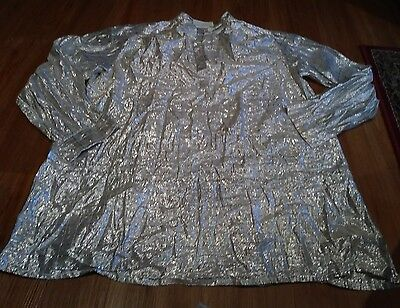 Shiny Silver Metallic Tunic Ladies  Large Halloween ~Build Your Own Costume~ h1