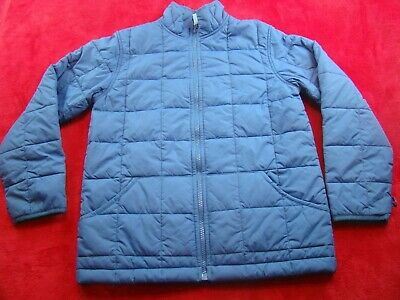 Lands End Girls Boys Kids Blue Puffer Quilted Jacket Coat Size Medium 10-12