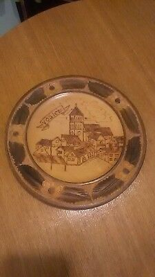 Black forest Carved wood, Decorative Plate from Vodice