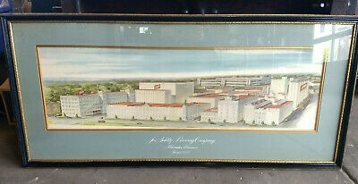 Vintage 1940s Schlitz Beer Brewery 100th Anniversary Lithograph - Framed Litho