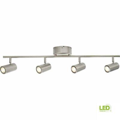Hampton Bay 5 Light Brushed Steel Line Voltage Flexible