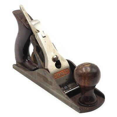 Vintage Stanley Bailey No.3 Smooth Bottom Carpentry Woodworking Jack Wood Plane