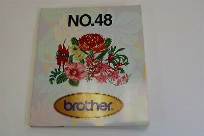 EMBROIDERY CARD No 48 Flowers Bernina Deco Babylock Brother .pes