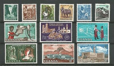 Uganda 1962 Fine Unmounted Mint Set Of Independence Issues To 20/-