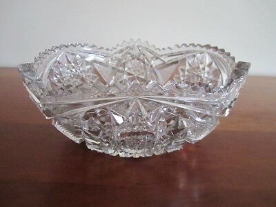 Antique Heavy Pressed Glass Bowl