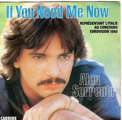 EUROVISION  1980  ALAN  SORRENTI - NON SO CHE DAREI-IF YOU NEED ME NOW,7inch