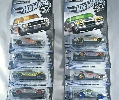 Hot Wheels, 50th Anniversary Zamac Cars, Complete Set, Lot of 8