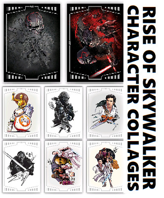 Character Collages-Ros-8 Card Standard Set-Topps Star Wars Card Trader