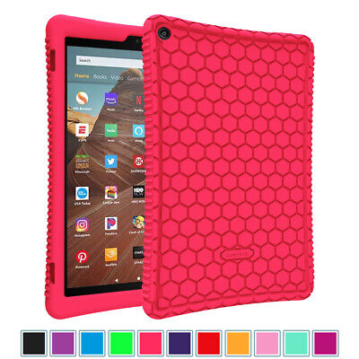 For All-New Amazon Fire HD 10 9th Gen 2019 Honey Comb Shockproof Back Cover Case