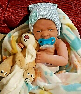Baby Boy!! So Cute 14 In Reborn  Has Pacifier Blanket And Toy