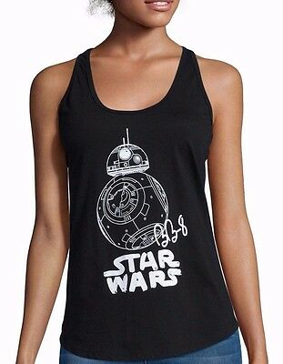 Star Wars Last Jedi BB-8 Droid Black Tank Top T-Shirt - Juniors XL - New w/Tags!
